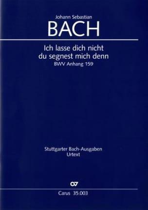 Ich Lasse Dich Nicht Anh. 159 BACH Partition Chœur - laflutedepan