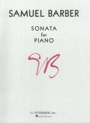 Sonate Opus 26 BARBER Partition Piano - laflutedepan