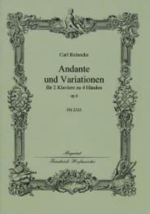 Andante et Variations Op. 6. 2 Pianos - Reinecke - laflutedepan.com