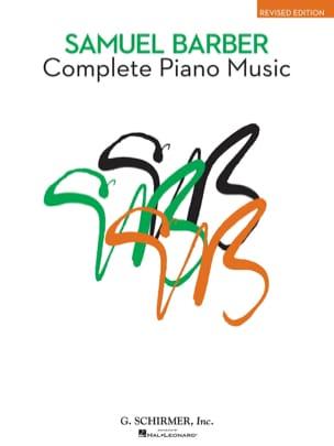 Complete Piano Music BARBER Partition Piano - laflutedepan