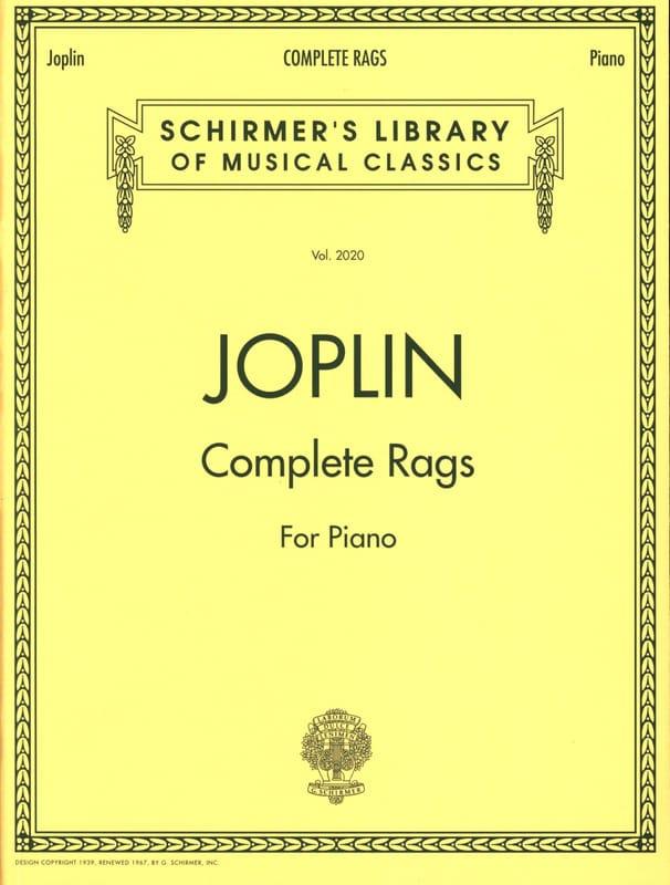 Complete Rags - JOPLIN - Partition - Piano - laflutedepan.com