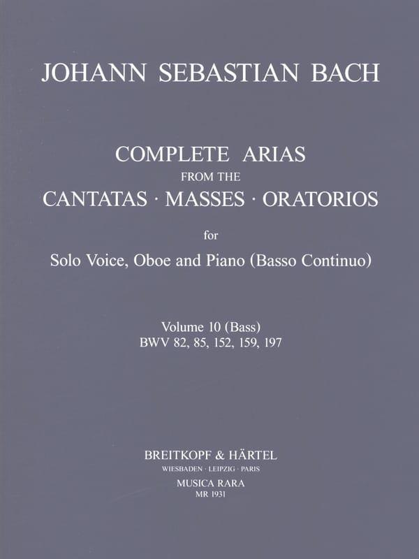 Complete arias from the cantatas, masses, oratorios Volume 10 - laflutedepan.com