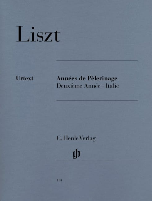Années de Pèlerinage - 2ème Année Italie - LISZT - laflutedepan.com