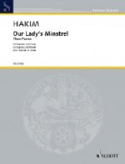 Our Lady's Minstrel Naji Hakim Partition Mélodies - laflutedepan