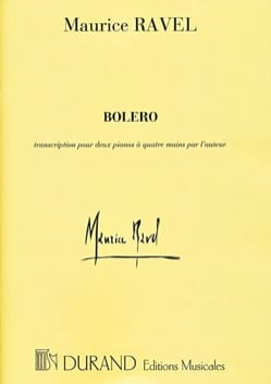 Maurice Ravel - Bolero. 4 manos - Partition - di-arezzo.es