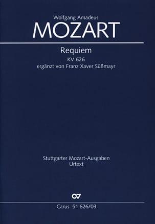 Requiem Kv 626. MOZART Partition Chœur - laflutedepan