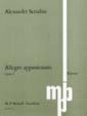 Allegro Appassionato Op. 4 - SCRIABINE - Partition - laflutedepan.com