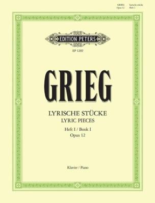 Lyrische Stücke 1 Opus 12 GRIEG Partition Piano - laflutedepan