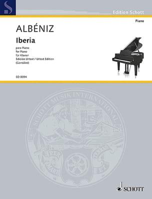 Iberia. Urtext ALBENIZ Partition Piano - laflutedepan