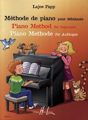 Méthode de Piano pour Débutants Lajos Papp Partition laflutedepan