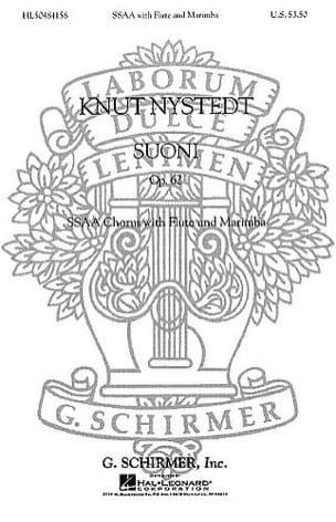 Suoni opus 62 Knut Nystedt Partition Chœur - laflutedepan