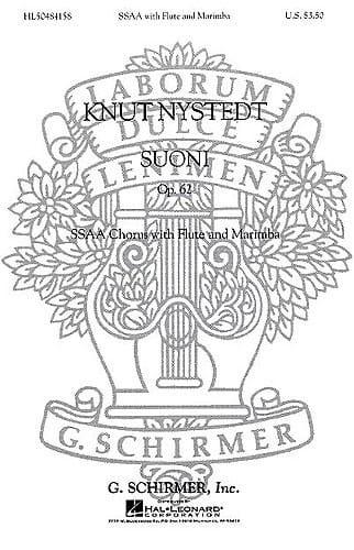 Suoni opus 62 - Knut Nystedt - Partition - Chœur - laflutedepan.com
