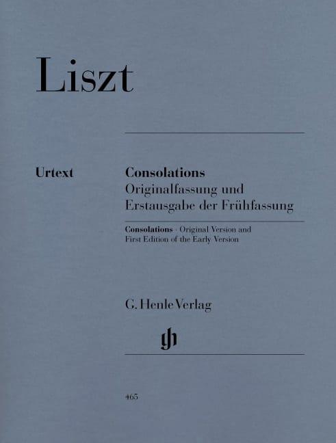 Consolations - LISZT - Partition - Piano - laflutedepan.com