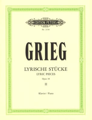 Lyrische Stücke 2 Opus 38 GRIEG Partition Piano - laflutedepan