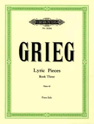 Lyrische Stücke 3 Opus 43 GRIEG Partition Piano - laflutedepan