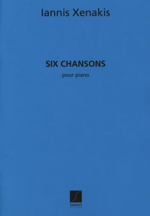 6 Chansons XENAKIS Partition Piano - laflutedepan
