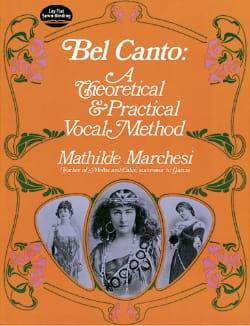 Bel Canto Mathilde Marchesi Partition Pédagogie - laflutedepan