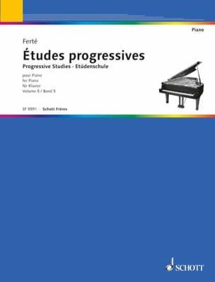 Etudes Progressives Volume 5. Armand Ferté Partition laflutedepan