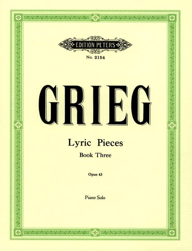 Lyrische Stücke 3 Opus 43 - GRIEG - Partition - laflutedepan.com