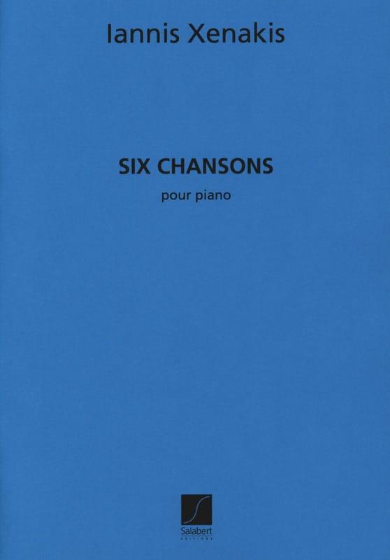 6 Chansons - XENAKIS - Partition - Piano - laflutedepan.com
