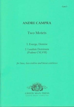 Two Motets - CAMPRA - Partition - laflutedepan.com