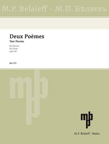 2 Poèmes Op. 44 - SCRIABINE - Partition - Piano - laflutedepan.com