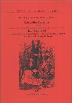 Das Mühlrad Conrad Kreutzer Partition Cor - laflutedepan