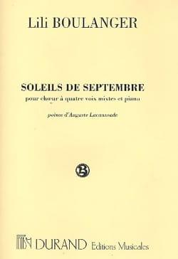 Soleils de Septembre Lili Boulanger Partition Chœur - laflutedepan