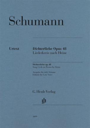 Dichterliebe Opus 48 - Voix grave SCHUMANN Partition laflutedepan