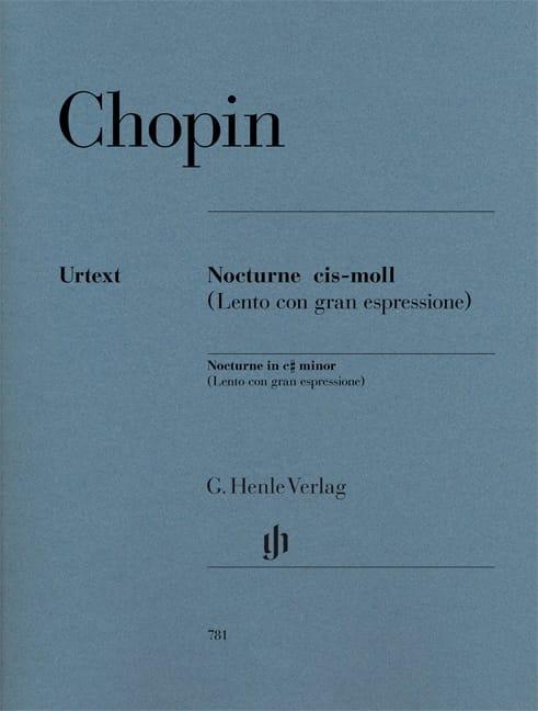 Nocturne En Ut dièse Mineur Opus Posthume - CHOPIN - laflutedepan.com