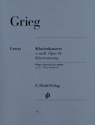 Concerto Pour Piano En la Mineur Opus 16 GRIEG Partition laflutedepan