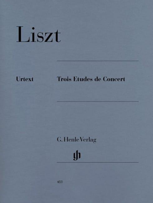 Trois Etudes de Concert - LISZT - Partition - Piano - laflutedepan.com