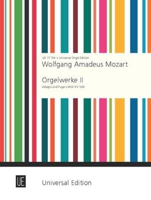 Adagio and Fugue MOZART Partition Orgue - laflutedepan