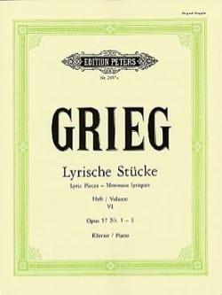 Lyrische Stücke Volume 6 Opus 57 1-3 GRIEG Partition laflutedepan