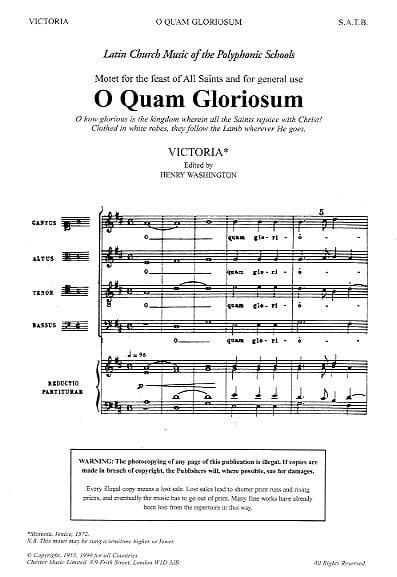 O Quam Gloriosum - Tomas Luis de Victoria - laflutedepan.com