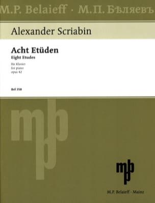 8 Etudes Opus 42 SCRIABINE Partition Piano - laflutedepan