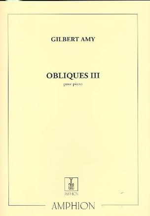 Obliques 3 Gilbert Amy Partition Piano - laflutedepan