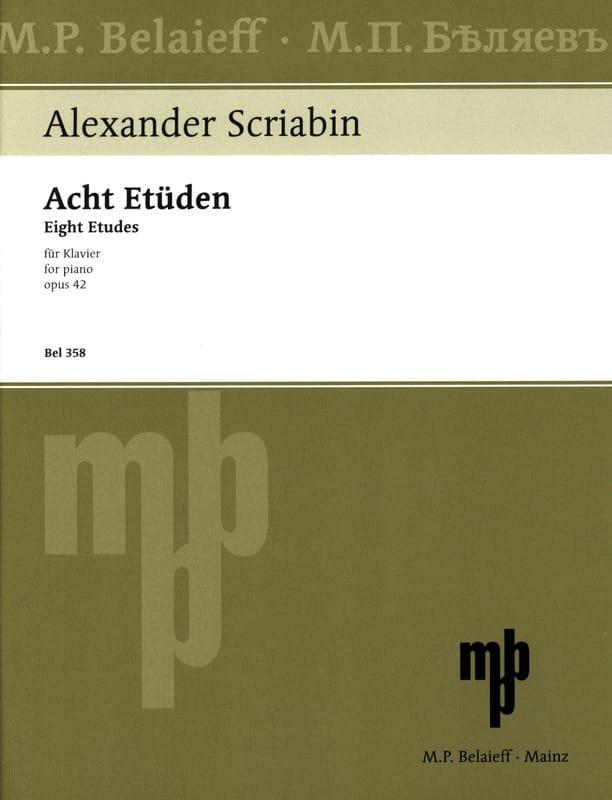 8 Etudes Opus 42 - SCRIABINE - Partition - Piano - laflutedepan.com