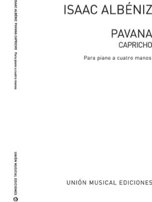 Pavana Capricho Opus 12. 4 mains ALBENIZ Partition laflutedepan