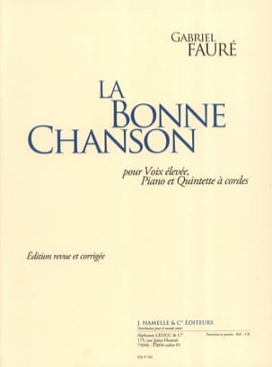 La Bonne Chanson Opus 61. Voix haute FAURÉ Partition laflutedepan
