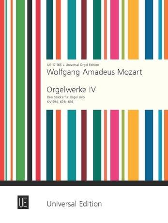 Oeuvre d'Orgue Volume 4 - MOZART - Partition - laflutedepan.com
