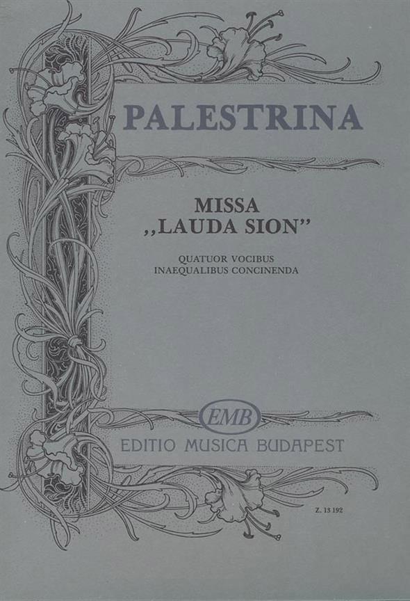 Missa Lauda Sion - PALESTRINA - Partition - Chœur - laflutedepan.com
