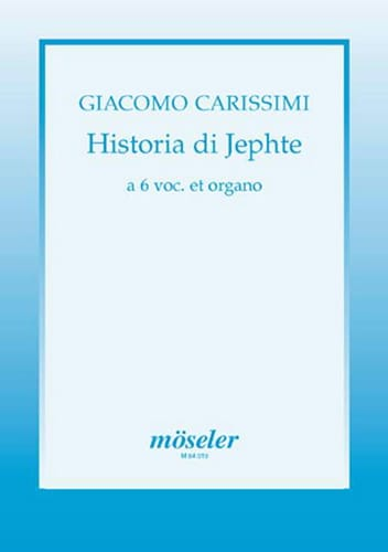Historia di Jephte - Giacomo Carissimi - Partition - laflutedepan.com