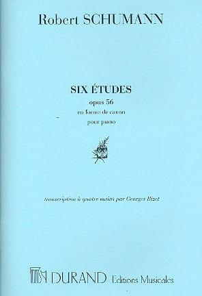 Etudes en forme de canon op. 56. 4 mains - SCHUMANN - laflutedepan.com