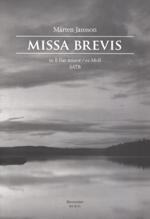Missa Brevis en Mi bémol Mineur Marten Jansson Partition laflutedepan