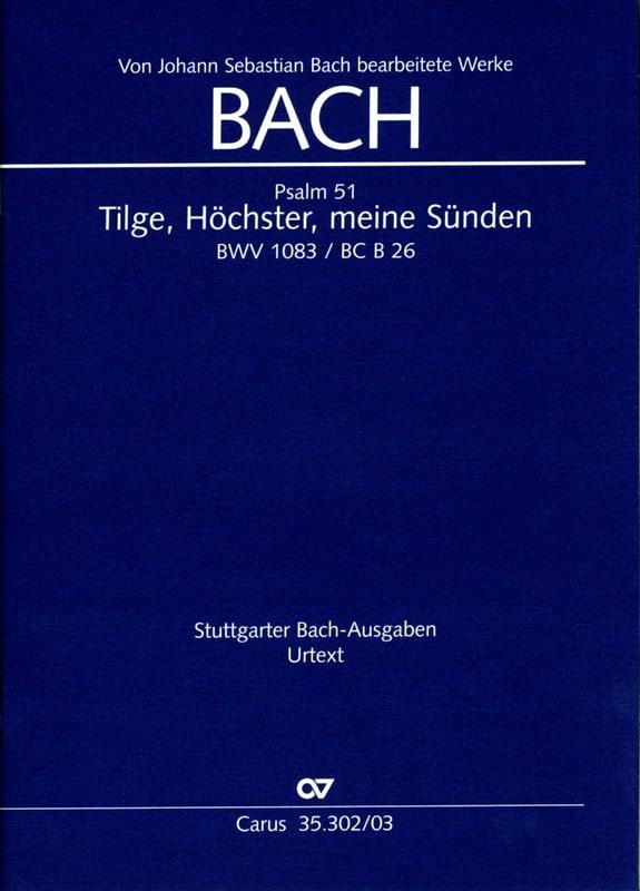 Tilge, Höchster, Meine Sünden BWV 1083 - laflutedepan.com