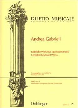 Sämtliche Orgelwerke Volume 1 Andrea Gabrieli Partition laflutedepan