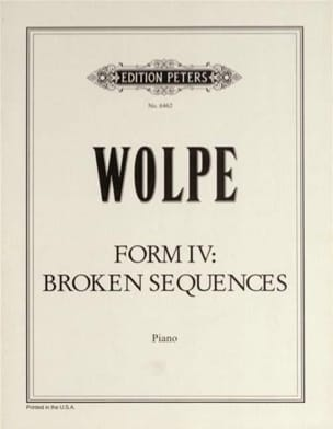 Form IV - Wolpe - Partition - Piano - laflutedepan.com