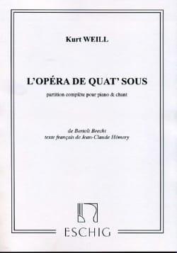 Opéra de Quat' Sous WEILL Partition Opéras - laflutedepan