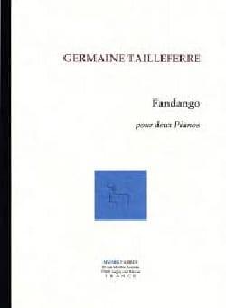 Fandango Germaine Tailleferre Partition Piano - laflutedepan